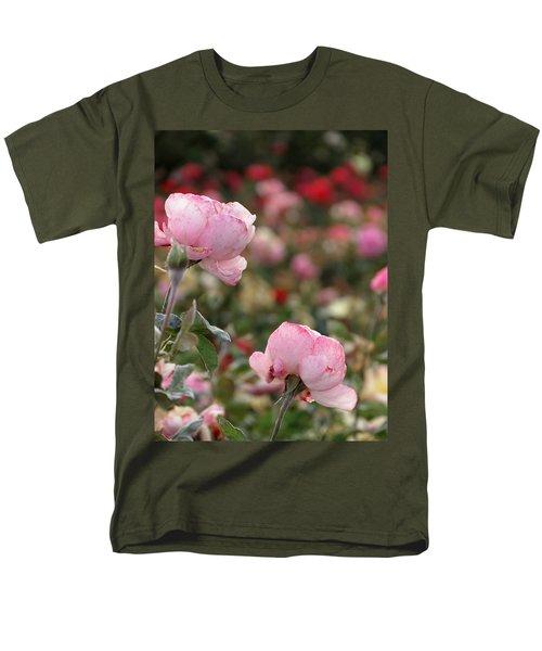 Pink Roses Men's T-Shirt  (Regular Fit) by Laurel Powell