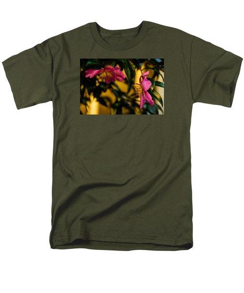 Pink Sasanquas  Men's T-Shirt  (Regular Fit) by John Harding