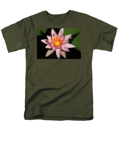 Men's T-Shirt  (Regular Fit) featuring the photograph Pink Water Lily 2016 by Suzanne Gaff