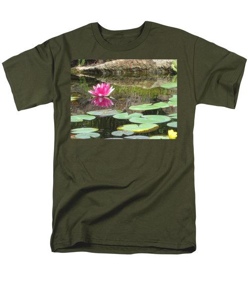 Pink Waterlilly  Men's T-Shirt  (Regular Fit) by Laurianna Taylor