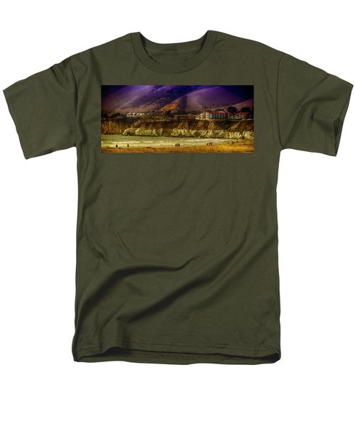 Men's T-Shirt  (Regular Fit) featuring the photograph Pismo Beach Cove by Joseph Hollingsworth
