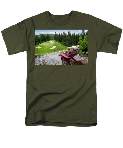 Men's T-Shirt  (Regular Fit) featuring the photograph Play Through Or Enjoy The View by Darcy Michaelchuk