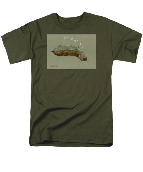 Playing Hippo Men's T-Shirt  (Regular Fit) by Juan  Bosco