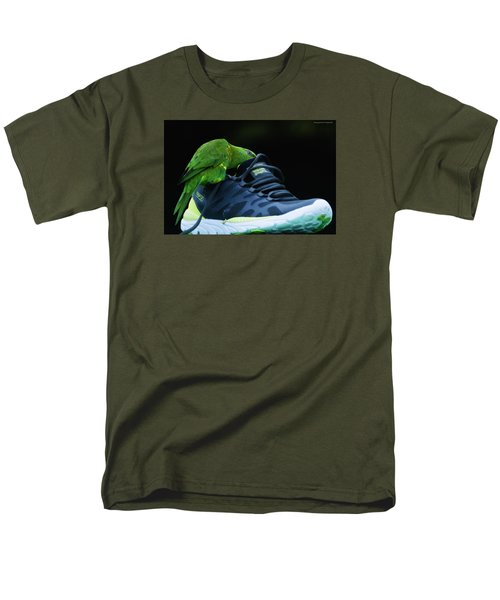 Men's T-Shirt  (Regular Fit) featuring the photograph Playing With Dads Shoe 01 by Kevin Chippindall