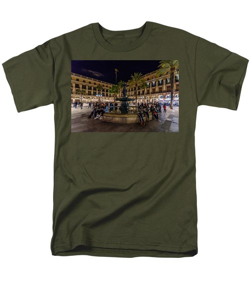 Plaza Reial Men's T-Shirt  (Regular Fit) by Randy Scherkenbach