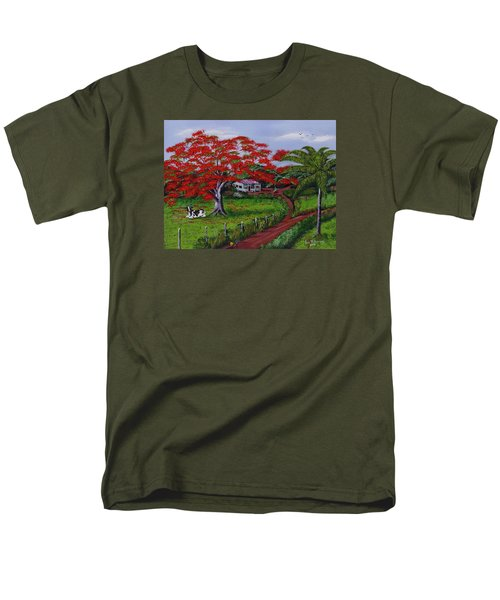 Poinciana Blvd Men's T-Shirt  (Regular Fit) by Luis F Rodriguez