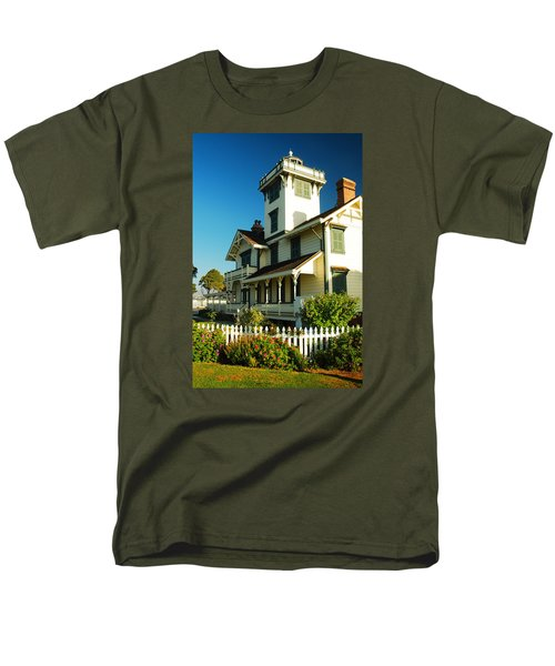 Men's T-Shirt  (Regular Fit) featuring the photograph Point Fermin Lighthouse by James Kirkikis