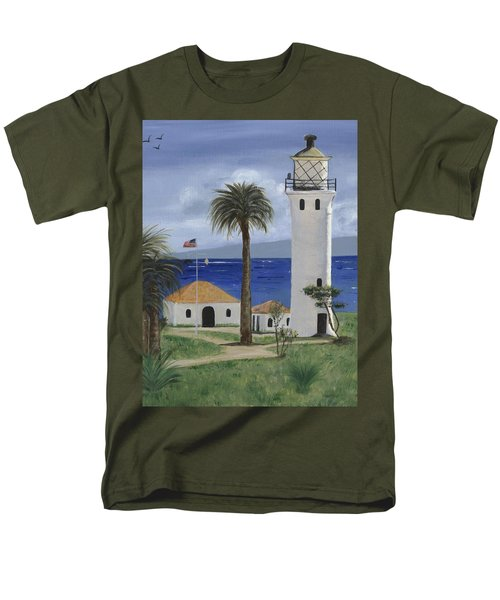 Point Vicente Lighthouse Men's T-Shirt  (Regular Fit) by Jamie Frier