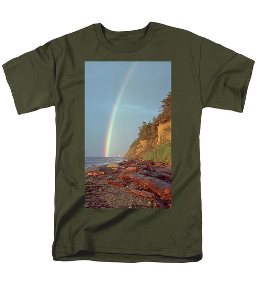 Point Wilson Men's T-Shirt  (Regular Fit) by Laurie Stewart