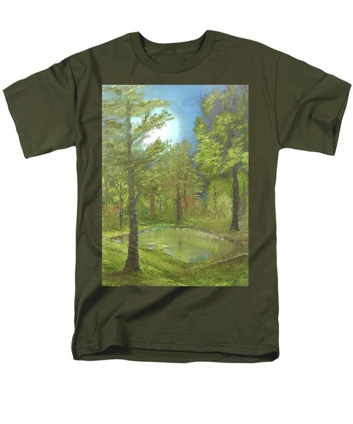 Pond Men's T-Shirt  (Regular Fit) by Angela Stout