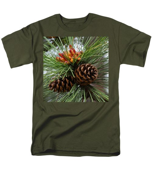 Ponderosa Pine Cones Men's T-Shirt  (Regular Fit) by Karon Melillo DeVega