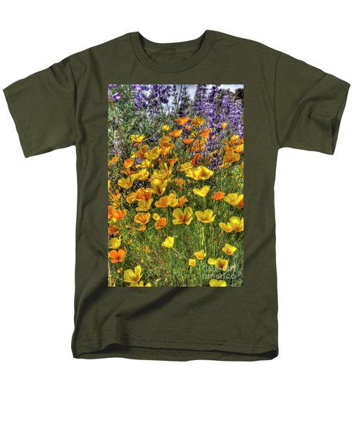 Men's T-Shirt  (Regular Fit) featuring the photograph Poppies And Lupines by Jim and Emily Bush