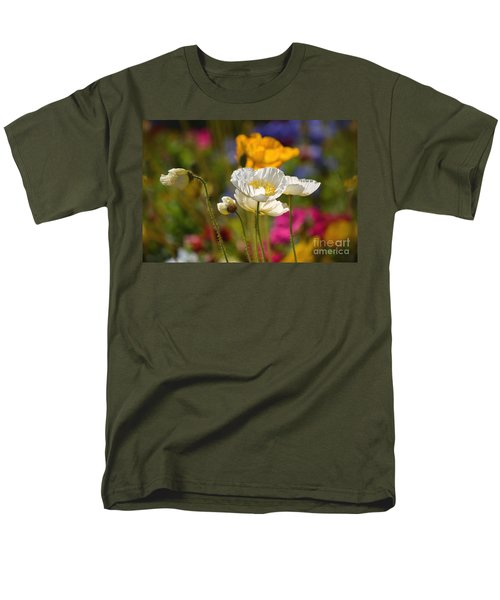 Poppies In The Spring Men's T-Shirt  (Regular Fit) by Deb Halloran