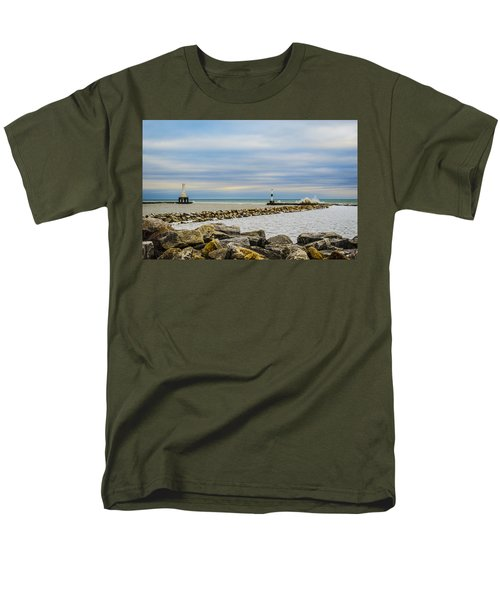 Men's T-Shirt  (Regular Fit) featuring the photograph Port Washington Light 5 by Deborah Smolinske