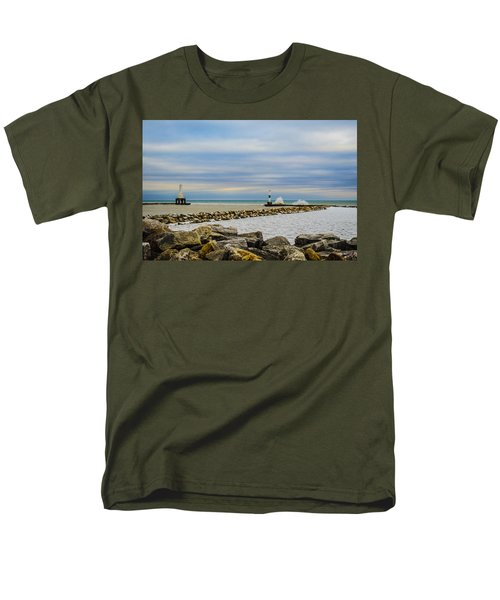 Men's T-Shirt  (Regular Fit) featuring the photograph Port Washington Light 6 by Deborah Smolinske
