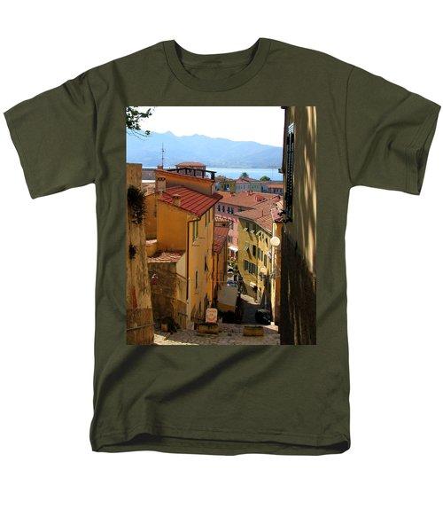 Portoferraio Elba Men's T-Shirt  (Regular Fit) by Carla Parris