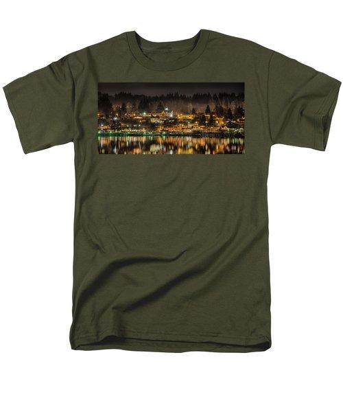 Poulsbo Waterfront 5 Men's T-Shirt  (Regular Fit) by Wally Hampton