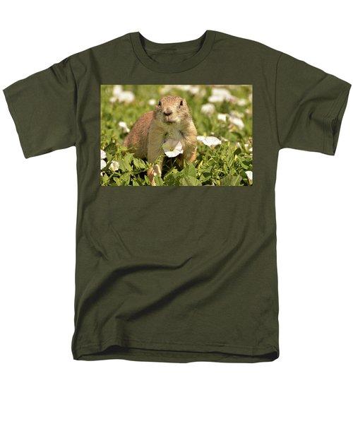 Prairie Dog Men's T-Shirt  (Regular Fit) by Nancy Landry