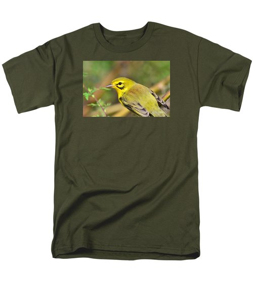 Prairie Warbler Men's T-Shirt  (Regular Fit) by Kathy Gibbons
