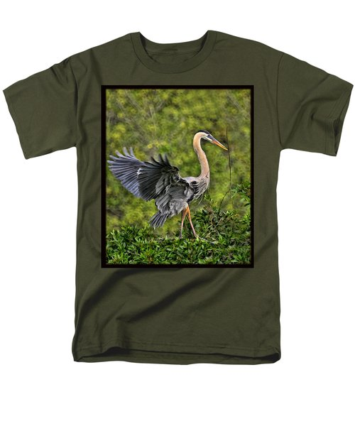 Men's T-Shirt  (Regular Fit) featuring the photograph Prancing Heron by Shari Jardina