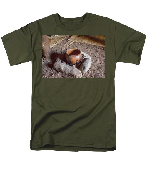 Men's T-Shirt  (Regular Fit) featuring the photograph Prehistoric Cooking  by Patricia Hofmeester