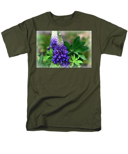 Men's T-Shirt  (Regular Fit) featuring the photograph Pretty In Purple by Clarice  Lakota
