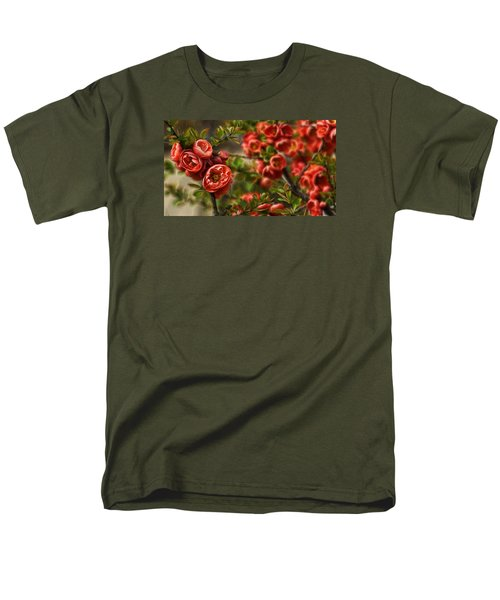 Men's T-Shirt  (Regular Fit) featuring the photograph Pretty In Red by Cameron Wood
