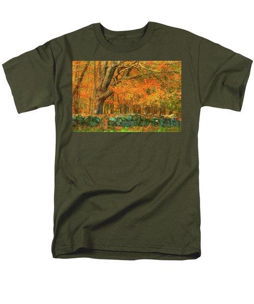Preuss Road Stone Wall Men's T-Shirt  (Regular Fit) by Trey Foerster