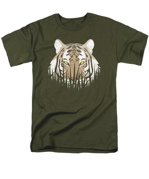 Hiding Tiger Men's T-Shirt  (Regular Fit) by Sinisa Kale