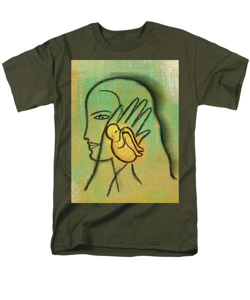 Men's T-Shirt  (Regular Fit) featuring the painting Pro Abortion Or Pro Choice? by Leon Zernitsky