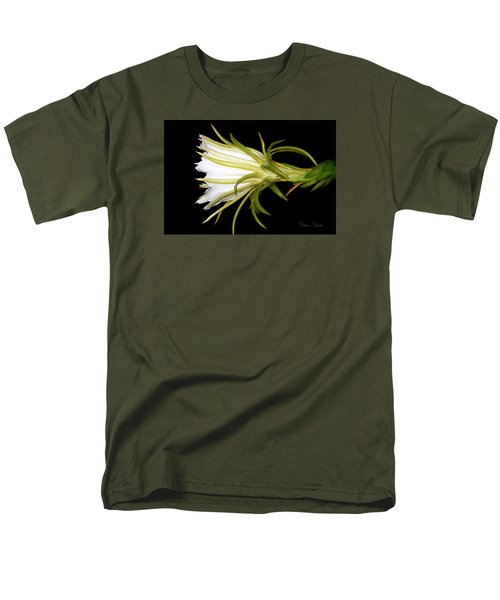 Profile Night Blooming Cereus Men's T-Shirt  (Regular Fit) by Barbara Chichester