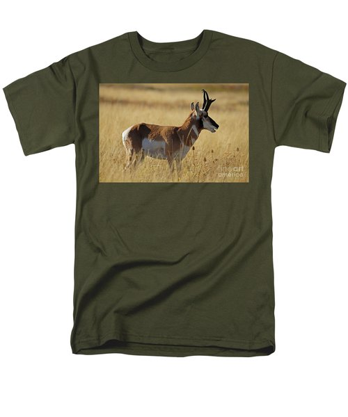 Pronghorn Antelope Men's T-Shirt  (Regular Fit) by Cindy Murphy - NightVisions