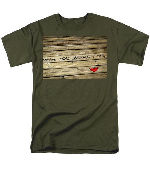 Propose To Me Men's T-Shirt  (Regular Fit) by Carolyn Marshall
