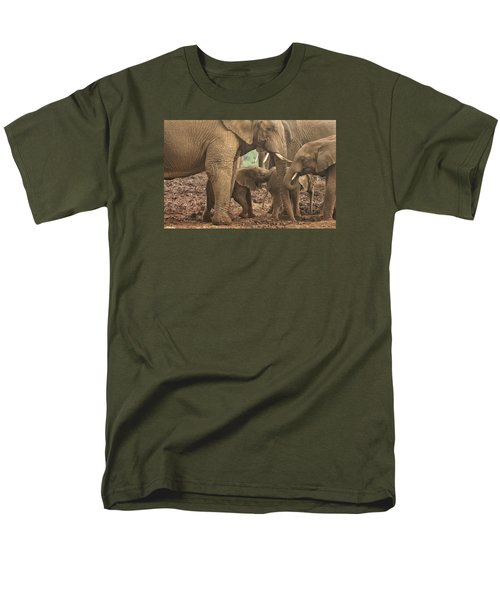 Men's T-Shirt  (Regular Fit) featuring the photograph Protecting The Babies by Gary Hall