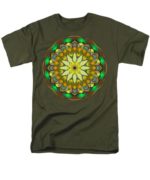 Psychedelic Mandala 008 A Men's T-Shirt  (Regular Fit) by Larry Capra