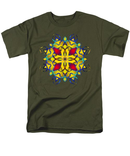 Psychedelic Mandala 011 B Men's T-Shirt  (Regular Fit) by Larry Capra