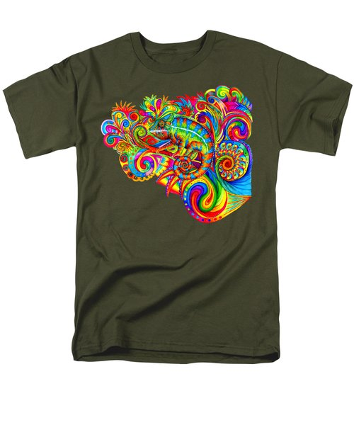 Psychedelizard Men's T-Shirt  (Regular Fit)