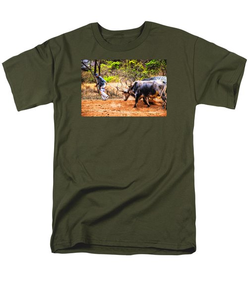 Pulling The Beasts Men's T-Shirt  (Regular Fit) by Rick Bragan