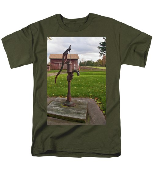Men's T-Shirt  (Regular Fit) featuring the photograph Pump 13951 by Guy Whiteley