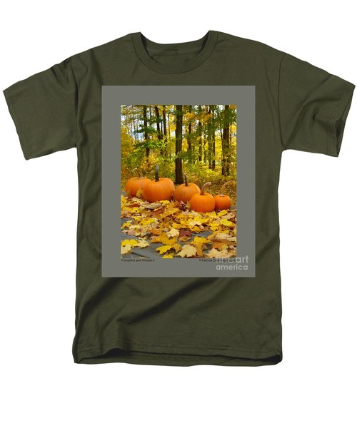 Pumpkins And Woods-ii Men's T-Shirt  (Regular Fit) by Patricia Overmoyer