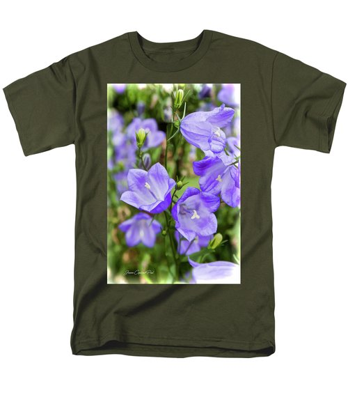 Purple Bell Flowers Men's T-Shirt  (Regular Fit) by Joann Copeland-Paul