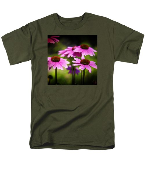 Purple Coneflowers Men's T-Shirt  (Regular Fit) by Milena Ilieva