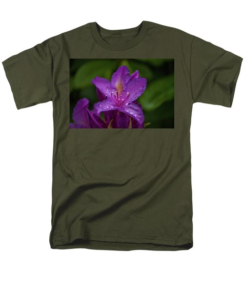 Men's T-Shirt  (Regular Fit) featuring the photograph Purple Flower 7 by Timothy Latta