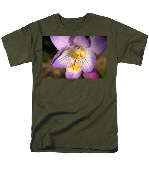Purple Fresia Flower Men's T-Shirt  (Regular Fit) by Ralph A  Ledergerber-Photography