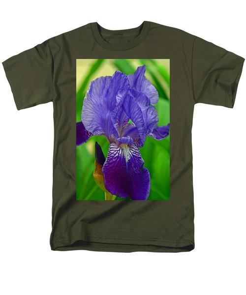 Purple Iris Men's T-Shirt  (Regular Fit) by Lisa Phillips