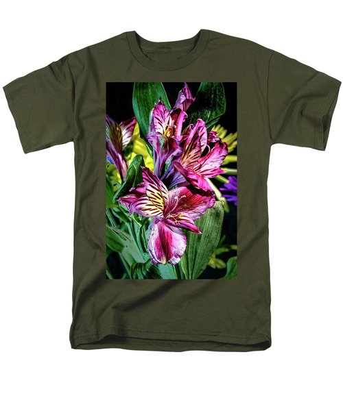 Purple Lily Men's T-Shirt  (Regular Fit) by Mark Dunton