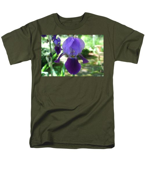 Men's T-Shirt  (Regular Fit) featuring the digital art Purple Pleaser by Barbara S Nickerson