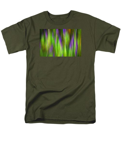Purple Sage Digital Abstracts Motion Blur Men's T-Shirt  (Regular Fit) by Rich Franco