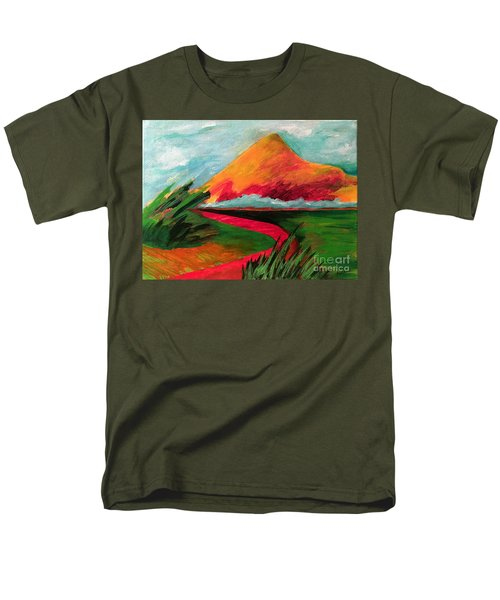 Pyramid Mountain Men's T-Shirt  (Regular Fit) by Elizabeth Fontaine-Barr