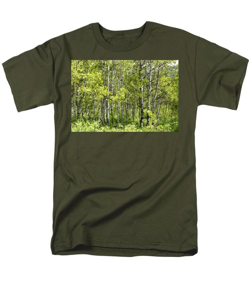 Quaking Aspens 2 Men's T-Shirt  (Regular Fit) by Cynthia Powell